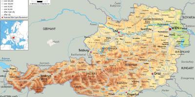 Hallstatt Avstriya Karta Na Hallstatt Avstriya Zapadna Evropa
